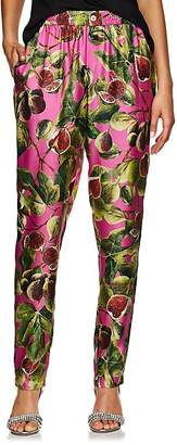 Dolce & Gabbana Women's Fig-Print Silk Pajama Pants