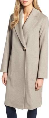 Fleurette One-Button Loro Piana Wool Coat