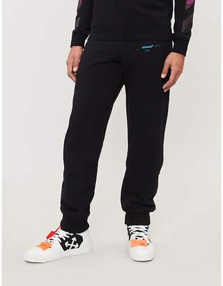Off-White Logo-print cotton-jersey jogging bottoms
