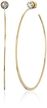 Michael Kors Tone Modern Brilliance Hoop Earrings