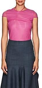 Helmut Lang Women's Stretch-Organza T-Shirt - Pink