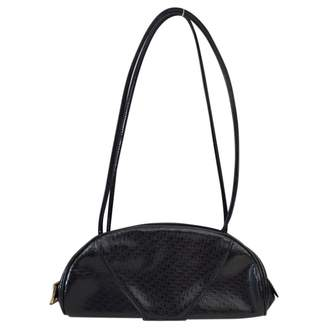 Christian Dior 100% Authentic Vintage Black Half Moon Monogram Leather Handbag