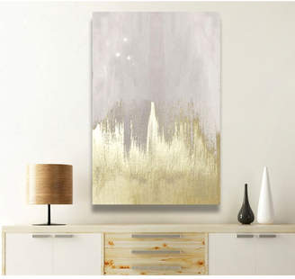 Willa Arlo Interiors 'Offwhite Starry Night' Painting Print on Wrapped Canvas