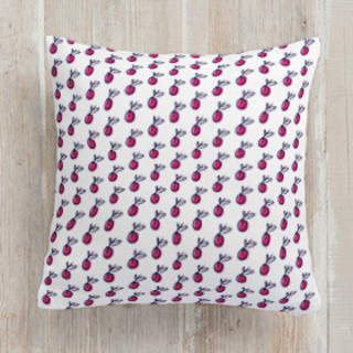 Bright Radishes Square Pillow