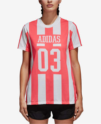 adidas Cotton Striped T-Shirt
