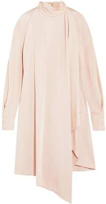 Carven Pussy-Bow Draped Stretch-Jersey Dress