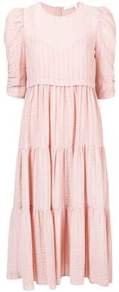 See by Chloe striped midi dress