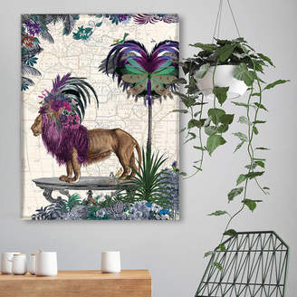 FabFunky Home Decor African Lion, Limited Edition Art Print