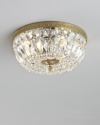Horchow Large Prism Brass Flush-Mount Ceiling Fixture
