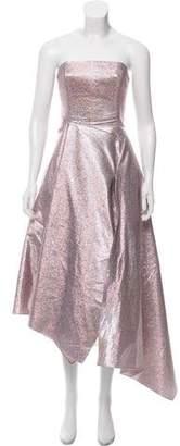 Osman Strapless A-Line Evening Dress