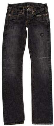 Co RRL & Low-Rise Straight-Leg Jeans