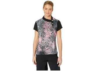 Jamie Sadock Crunchy Leopard Print Short Sleeve Top