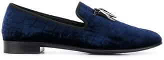 Giuseppe Zanotti Design Spacey velvet slippers