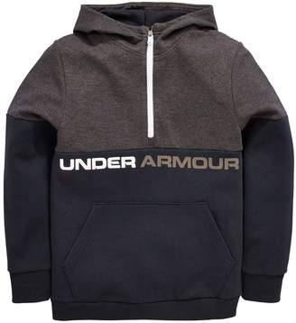 Under Armour Boys Double Knit 1/2 Zip Hoodie - Black