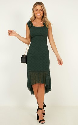 Showpo Turn To You Dress in emerald - 4 (XXS) Dresses