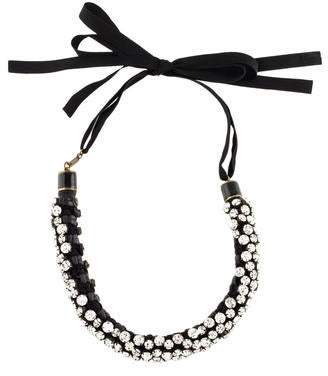 Isabel Marant Crystal Tie Choker Necklace