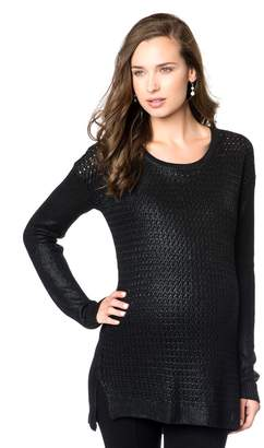 Willow & Clay Willow&Clay High-low Hem Maternity Sweater