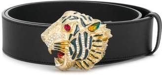 Gucci tiger head belt
