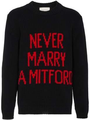 Gucci Never Marry A Mitford Jumper