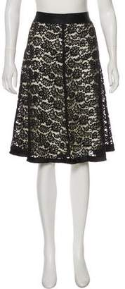 Rebecca Taylor Knee-Length Lace Skirt