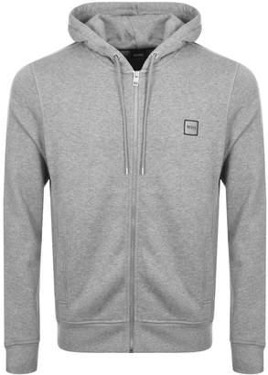 BOSS ORANGE Full Zip Znacks Hoodie Grey