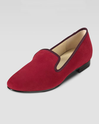 Cole Haan Sabrina Suede Smoking Slipper, Tango Red