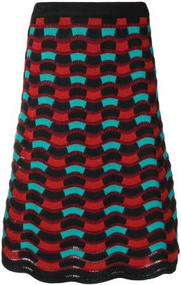 M Missoni knitted A-line skirt
