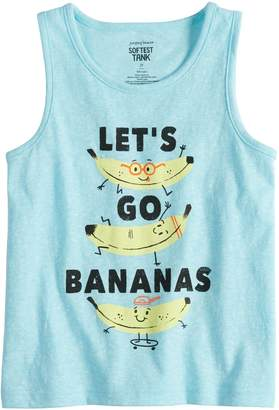 "Toddler Boy Jumping Beans ""Let's Go Bananas"" Softest Tank Top"