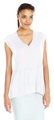 BCBGMAXAZRIA Women's Eniko with Contrast Top