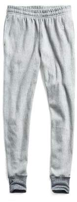 Todd Snyder + Champion Reverse Weave Slim Sweatpant With Rib Contrast in Light Grey Mix