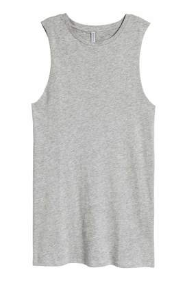 H&M Sleeveless Jersey Dress - Gray melange - Women