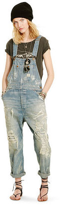 Ralph Lauren Denim & Supply D&S Banner Overall $298 thestylecure.com