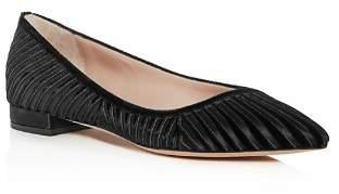 Giorgio Armani Women's Velvet & Satin Stripe Pointed Toe Ballet Flats