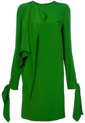 Calvin Klein asymmetric tie sleeve dress