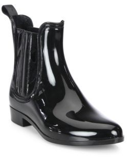 Joie Kada Patent Leather Rain Booties $98 thestylecure.com