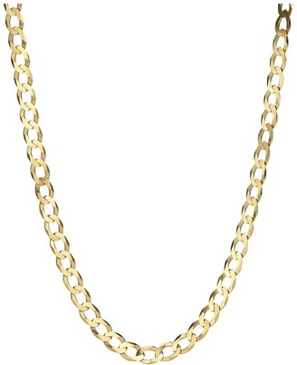 Love Gold Love GOLD 9 Carat Yellow Gold Solid Diamond Cut Curb 20 inch Chain