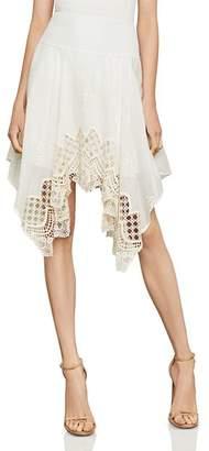 BCBGMAXAZRIA Mosaic Embroidered-Trim Skirt