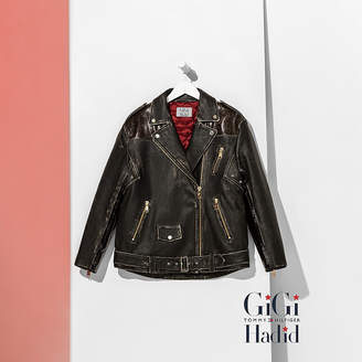Tommy Hilfiger Leather Biker Jacket Gigi Hadid