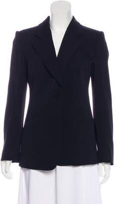 Armani Collezioni Virgin Wool Notch-Lapel Blazer