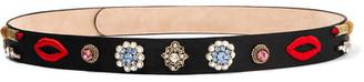 Alexander McQueen - Embellished Embroidered Satin Waist Belt - Black $1,395 thestylecure.com