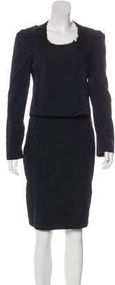Zac Posen Animal Print Suit Skirt Set