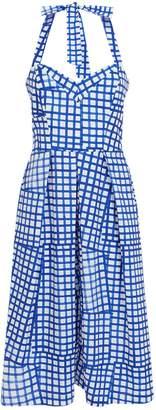 Milly Paige Check Sleeveless Midi Dress