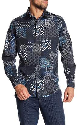 Robert Graham Yardman Classic Fit Print Woven Shirt