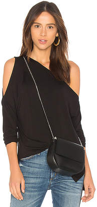 Bobi Bamboo Jersey One Shoulder Top