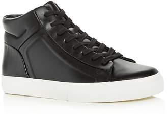 Men's Fynn Leather High-Top Sneakers