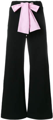 MSGM bow belt wide-leg trousers
