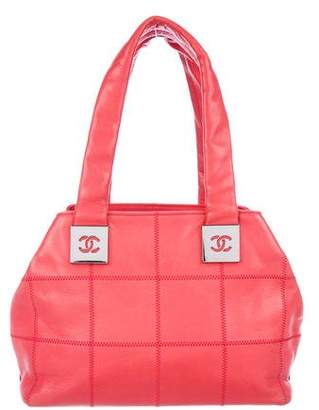 Chanel Square Quilt Bowler Bag