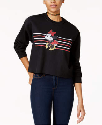 Disney Juniors' Minnie Mouse Cropped Graphic Sweatshirt $34 thestylecure.com