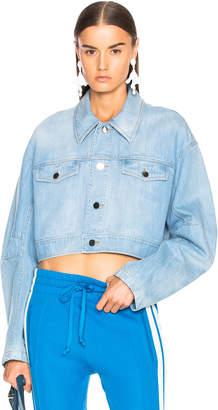 Tibi Crop Denim Jacket