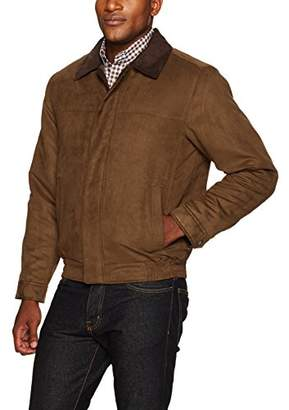 Co Weatherproof Garment Men's Microsuede Filled Bomber Jacket